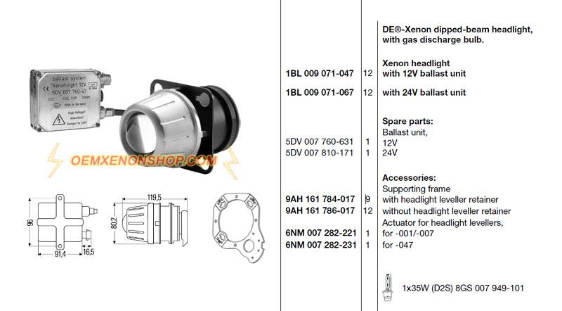 Dipped Beam Headlights : Hella de xenon dipped beam headlight hid ballast d s