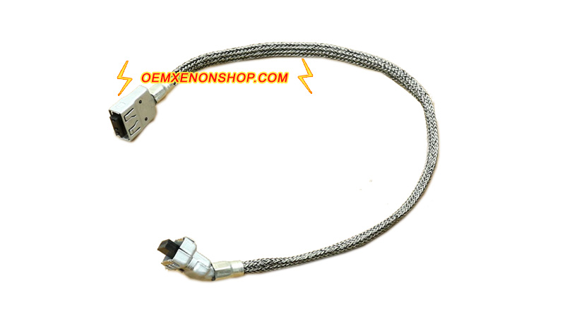 Cadillac SRX Headlight HID Xenon Ballast To Bulb Wires Cable Connector cadillac srx xenon headlight original hid d1s ballast bulb change Wiring Harness Diagram at soozxer.org