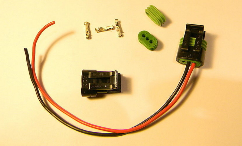 Osram HID Ballast 2 Wire To 3Pin Plug Connector Adapter Delphi Wiring Cable osram xenon hid d1s d3s ballast cable wiring harness cord wires 4 wire harness connector at bayanpartner.co