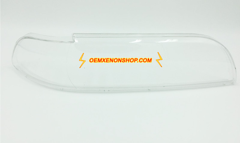BMW 5Series E39 Headlight Lens Cover Foggy Yellow Plastic Lenses Glasses Replacement