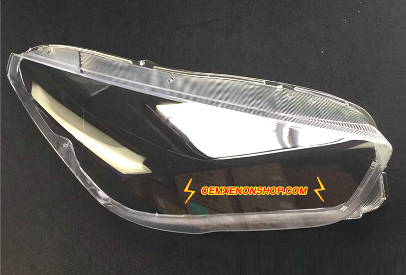 Ford Kuga Escape LED Headlight Lens Cover Foggy Yellow Plastic Lenses Glasses Replacement