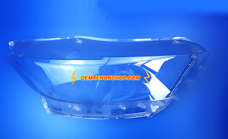 Ford Mustang S550 Headlight Lens Cover Foggy Yellow Plastic Lenses Glasses Replacement