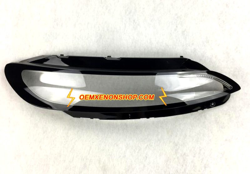 Jeep Cherokee LED DRL Lamp Lens Cover Foggy Yellow Plastic Lenses Glasses Replacement