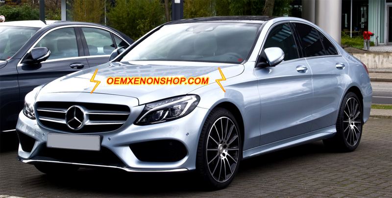 Mercedes benz c class w205 oem full multibeam led for Mercedes benz c300 windshield replacement