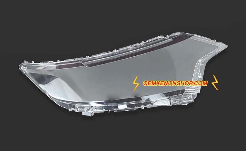 Mitsubishi Outlander Headlight Lens Cover Broken Headlamp
